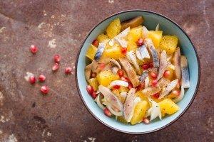 insalata di arance e aringhe
